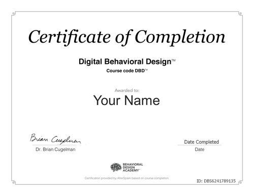 Certificate of Completion - EDP