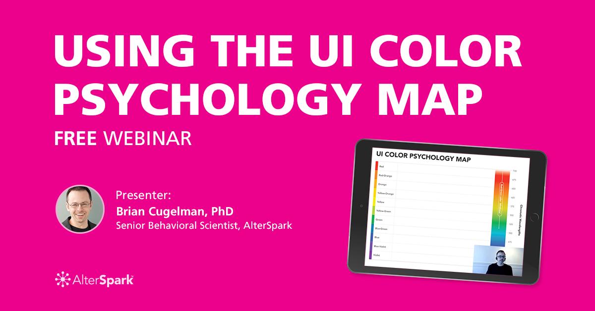 Using the UI Color Psychology Map. FREE Webinar